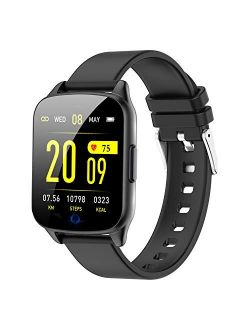 AMENON Fitness Tracker Watch, IP67 Waterproof Smart Watch Heart Rate Blood Pressure Oxygen Monitor for Women Men, Health Exercise Watch Activity Tracker with Pedometer, C