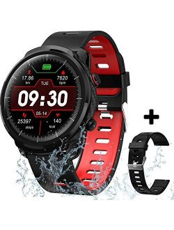 Smart Watch Fitness Tracker for Men Women, Waterproof Activity Tracker Watches with Heart Rate Monitor Step Counter Sleep Tracker Call Message Reminder Smartwatch Compati