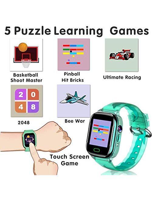 "iGeeKid Kids Smart Watch Phone-IP67 Waterproof Smartwatch Boys Girls Toddler Digital Wrist Watch 1.44"" Full Touch Calls,Camera,Gizmos Games,Alarm,12/24 Hr Kids Learning T"