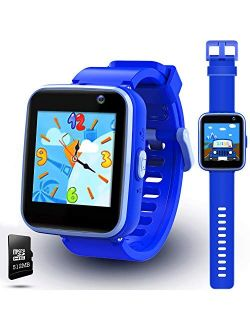 lzndeal Kids Smart Watch with Camera, Children Smartwatches for 3-10 Years Old Boys with Touchscreen, Educational Games, Music Player Learning Toys Christmas Birthday Gif