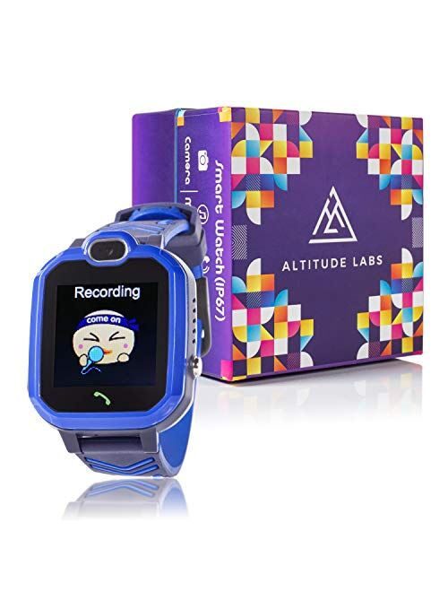 Kids Smart Watch with Alarm Clock 7 Game Camera Music Player Phone for Kids - Kids Smart Watch Boys and Girls - Touch Screen, Waterproof, Outdoor Clock - Blue Toy - Outdo
