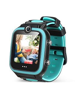 Kid Smart Watch Toy for 4-12 Year Old, Game Smartwatch with 4 GB Memory Card Screen Protector, HD Dual Cameras Watch for Kid, Game Toddler Watch, Smart Watch as Birthday