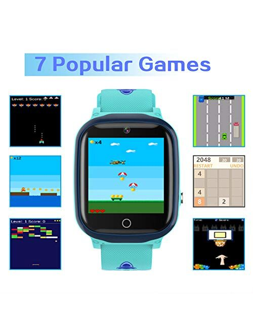 Kids Smart Watch for Boys Girls, Kids Smartwatch with Call SOS Camera Music Player Alarm Clock Calculator Calendar 7 Games Touch Screen Watchs Toys Birthday Gifts for 4-1