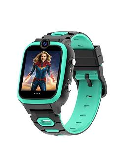 【Dual Cameras + Video 】 Smart Watch for Kids Boys Girls with Dual Cameras Video Recorder Player, MP3 Music Player,Pedometer ,33 Clock Faces ,7 Games, Waterproof and More