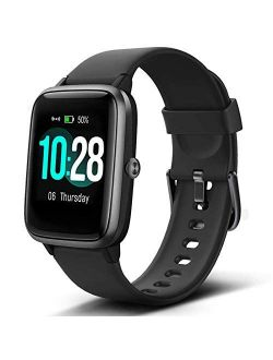"""Lintelek Smart Watch with 1.3"""" LCD Full Touch Screen, Large Screen Fitness Tracker with Heart Rate Monitor, Pedometer, Sleep Tracker, Waterproof Activity Tracker for Men,"""