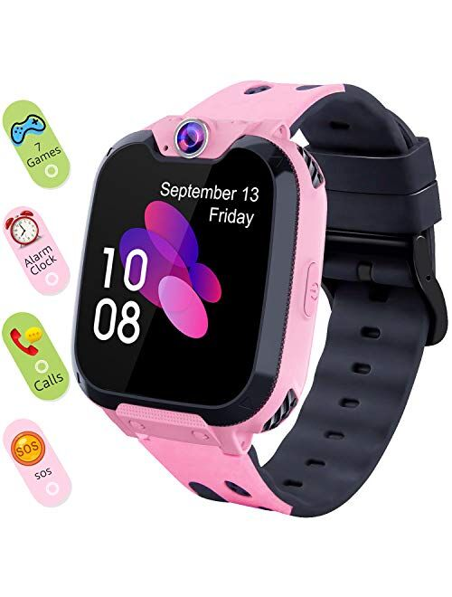 Smart Watch for Kids Boys Girls - Touch Screen Game Smartwatch with Call SOS Camera 7 Games Alarm Clock Music Player Record for Children Birthday Gifts 3-10 Kids Phone Wa