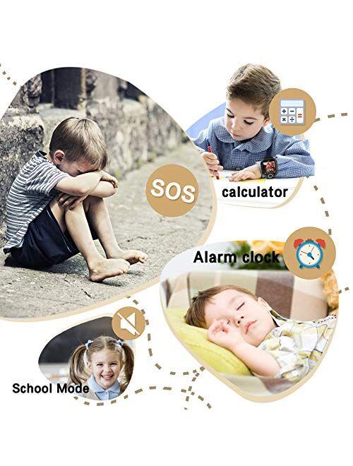 Kids Smart Watch for Boys Girls - Kids Smartwatch Phone with Calls 7 Games Music Player Camera Alarm Clock Calculator SOS Calendar Touch Screen Children's Smart Watch for