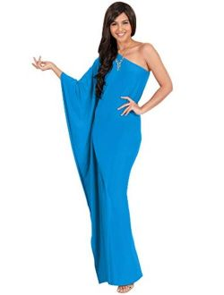 Womens Long Sexy One Shoulder Evening Cocktail Semi Formal Maxi Dress