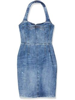 Women's Eco Denim Halter Top Christie Dress