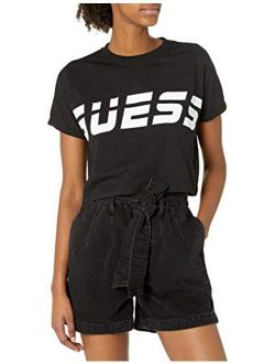 Women's Active Short Sleeve Crew Neck Cropped T-shirt