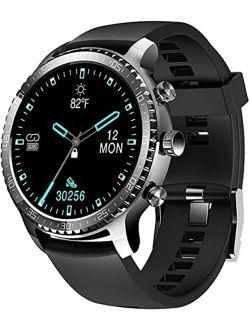 Tinwoo Smart Watch for Android / iOS Phones, Support Wireless Charging, Bluetooth Health Tracker with Heart Rate Monitor, Digital Smartwatch for Women Men, 5ATM Waterproo