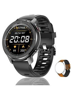 Lucakuins T30 (32.5mm, Bluetooth) Smart Call Watch, With Full Circle Full Touch Personalized Dial, Music Player/Wrist Phone/Heart Rate Monitor/Fitness Tracking/IP67 Water