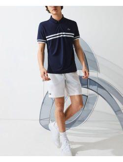 Men's Striped Trim Polo T-Shirt