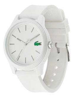 Men's 12.12 White Silicone Strap Analog Watch 42mm