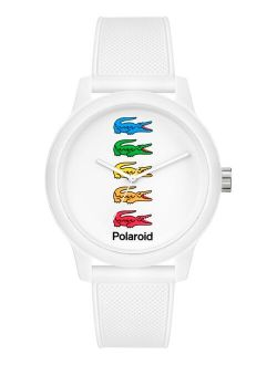 Men's 12.12 x Polaroid White Silicone Strap Watch 42mm