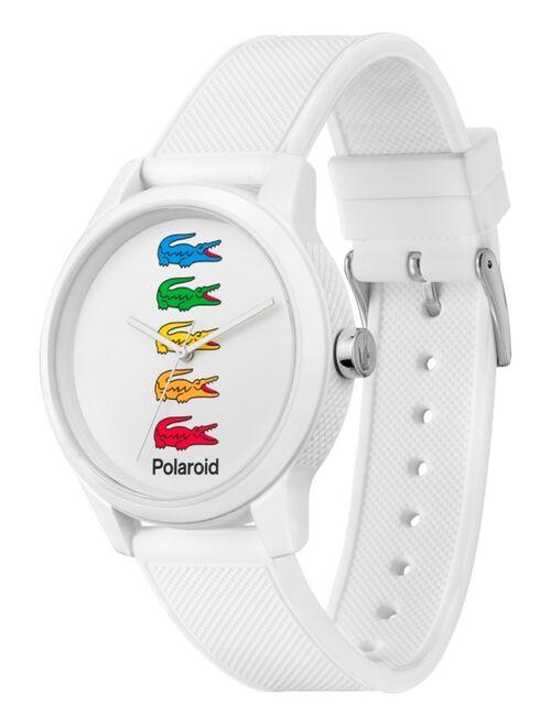 Lacoste Men's 12.12 x Polaroid White Silicone Strap Watch 42mm