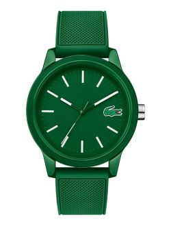 Men's 12.12 Green Silicone Strap Analog Watch 42mm