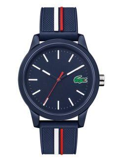Men's Swiss 12.12 Blue Silicone Strap Analog Watch 42mm