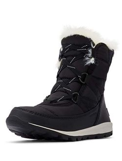 - Youth Whitney Short Lace Waterproof Snow Boots For Winter With Faux Fur Cuff