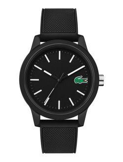 Men's 12.12 Black Silicone Strap Anlog Watch 42mm