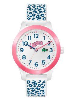 Kid's Swiss 12.12 White & Blue Silicone Strap Watch 32mm