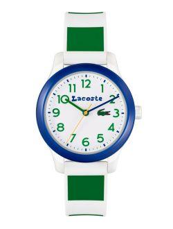 Kids' 12.12 White & Green Silicone Strap Watch 32mm