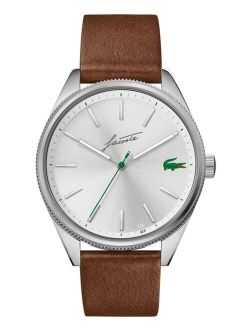 Men's Heritage Brown Leather Strap Watch 42mm