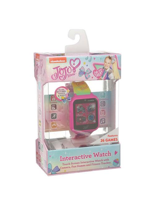 JoJo Siwa Rainbow Interactive Smart Kids Watch, 40mm –a Walmart Exclusive