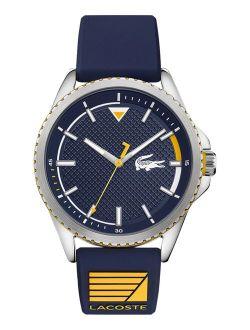 Men's Cap Marino Blue Silicone Strap Watch 44mm