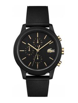 Men's Chronograph 12.12 Black Rubber Strap Watch 42mm