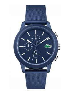 Men's Chronograph 12.12 Blue Silicone Strap Watch 44mm