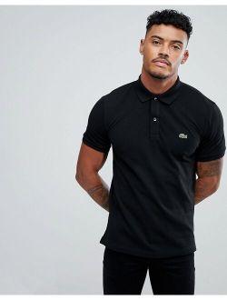 Slim Fit Pique Polo In Black