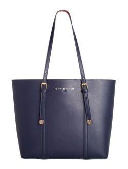 Double-Sided Smooth-Grain PVC Spacious Hannah Tote