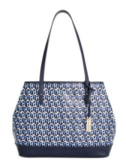 Leather Light-weight Kimberly Logo Tote