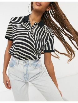 X National Geographic Polo Shirt In Zebra