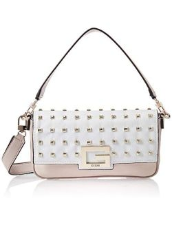 Brightside Vs758019 White Shoulder Bag With Studs Woman