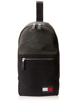 Carter Sling Backpack, Camo/black