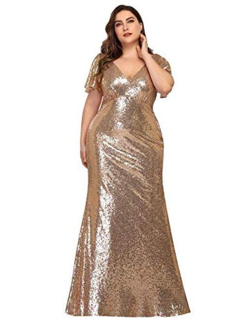 Ever-Pretty Women's Elegant V-Neck Formal Evening Dresses for Women 7988
