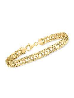 14kt Yellow Gold Double Oval-link Bracelet