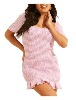 Aida Smocked Gingham Dress