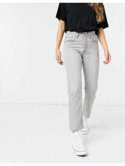 501 Crop Jeans In Light Gray