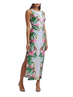 Peekaboo-Back Jersey Maxi Dress