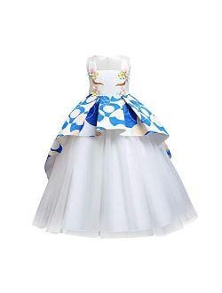 Baby Girls Princess Dress Christmas Pageant Party Wedding Tutu Short Graduation Striped Snowflake Dance Gown
