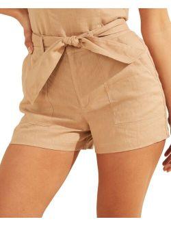 Brynn Linen Cargo Shorts