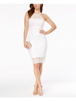 Lace Illusion Halter Dress