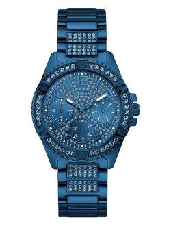 Unisex Blue Stainless Steel Bracelet Watch 40mm