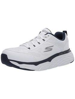 Men's Max Cushioning Elite Lucid-premium Leather Walking & Running Shoe Sneaker