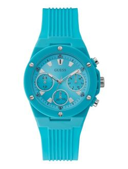 Women's Turquoise Silicone Strap Watch 39mm