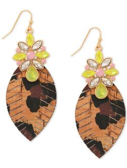 Gold-Tone Nomad Chic Leopard Print Drop Earrings