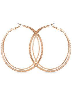 """Gold-Tone Rope Large Hoop Earrings, 2.5"""""""